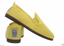 FLOSSY STYLE SLIP ON SHOE SHOES ORIGINAL YELLOW CANVAS PLIMSOLL FLOSSYS