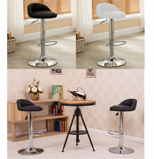 PVC Leather Gas Lift Bar Stool Kitchen Chair Black or White pick up disscount