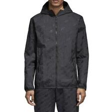 New adidas Monogram AOP Hooded Windbreaker Jacket - Carbon