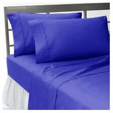 "15""to30"" Deep Pkt Bedding Items 1000TC Egyptian Cotton Egy Blue Solid AU Size"