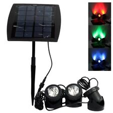 Solar 18LED RGB Outdoor Garden Landscape Yard Spot Light Lawn Lamp Spotlight @