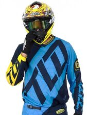 Troy Lee Designs Blue-Yellow 2017 GP Quest MX Jersey