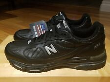 New Balance 993 Running Shoes Mens Size 12.5 13 Black Leather Comfort Sneakers