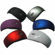 2.4GHz Foldable Arc Wireless Optical Mouse Mice + USB Receiver For PC Laptop SA