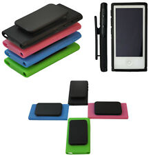 New Rubber TPU Skin Case Cover with Belt Clip for Apple iPod Nano 7th Gen 7 7G