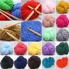 HOT! Soft Roving Bulky Chunky Super Thick Big Spinning Hand Knitting Ply Yarn