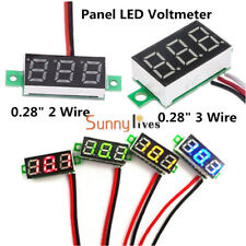 "0.28"" Voltmeter LED Display Voltage Panel Meter Red/Blue/Yellow/Green DC 0-100V"
