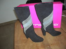 Boots Fornarina NEW suede gray black Value 199E Sizes 35,36,37,39,40