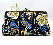 NWT Vera Bradley CLUTCH WALLET with double kisslock closure holds iPhone 5 6