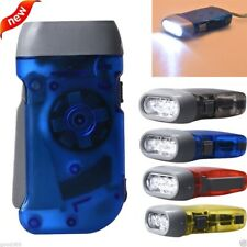 Portable Wind up Hand Pressing Crank Emergency Camping LED Flashlight Torch New