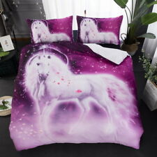 Unicorn Quilt Duvet Doona Cover Set Single/Queen/King Size Animal Bed Covers New