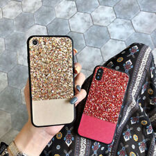 Bling Glitter Diamond Soft TPU Phone Back Case Cover For iPhone X 7 8 Plus 6S