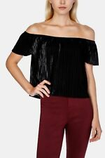NEW Womens MRP Black Off The Shoulder Top