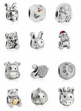 authentic Sterling Silver Portrait Charm beads Cartoon bead animal Charms bead