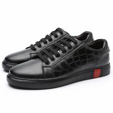 Men Chic Lace Up Round Toe Cow Leather Solid Flat Leisure Outdoor Shoes