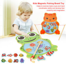 Baby Wooden Magnetic Fishing Toys Jigsaw Puzzle Board Education Toy For Child MF