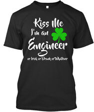 Kiss Me- Im An Engineer St Patricks Day - Me I'm Or Irish Premium Tee T-Shirt