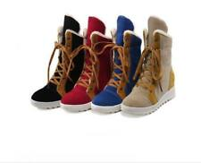 Women Cute Lace Up Fashion Wedge Sneaker Winter Boots Sport Shoes Size HHSS-169