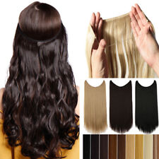 US Hidden Secret Headband Wire No Clip in Hair Extensions Hairpiece as Human THY