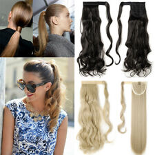 Ladies Long Straight Curly Wavy Ponytail Pony Tail Hair Hairpiece Extensions hyt