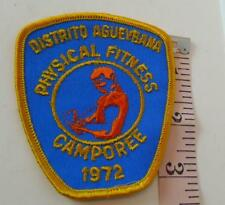 Distrito Agueybana  Physical Fitness Patch 1972 Vintage