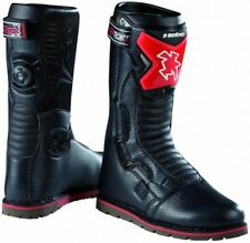 HEBO TECH COMP TRIAL MOTORCYCLE BOOTS (BLACK/RED) SANDIFORD OFFROAD LTD