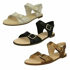 LADIES CLARKS LEATHER FLAT BUCKLE CASUAL COMFY SANDALS SHOES SIZE BAY PRIMROSE