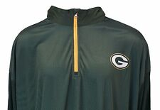 Majestic Mens NFL Green Bay Packers Intimidating 1/4 Zip Green Pullover 5XL
