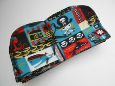 """Cloth Wipes 20 Baby Diaper Flannel 8""""x8"""" Boy Nautical Pirates Black 1 or 2 Ply"""