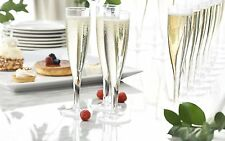 25-Count Party Essentials Hard Plastic One Piece 5-Ounce Champagne Flutes Clear