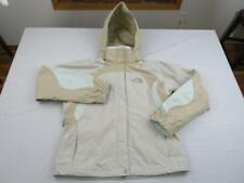 NORTH FACE Womens Brown HyVent Water Resistant Rain Jacket Size Small Ski Hooded