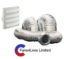 "125mm (5"") Cooker Hood Kit, Kitchen, 5 or 10m Alu Ducting"
