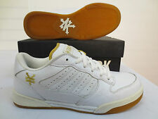 ZOO YORK MENS EMPIRE WHITE GOLD SHOES RUNNING WALKING CASUAL SKATE ATHLETIC NWB