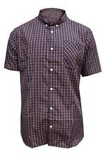 Brave Soul Mens Berliozx Short Sleeve Checked Shirt