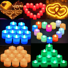 12/24/36/60pcs Flameless LED Tealight Tea Candles Light For Home Wedding Party