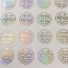 60-Double Happiness Wedding Invitation Envelope Stickers Seals-Round Shape