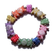 REBORN DOLL BRACELET BEADS STRETCH BUNNY BUTTERFLY PINK BLUE GREEN LAVENDER