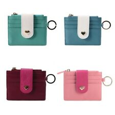 Women Leather Small ID Credit Card Business Slim Wallet Coin Holder Pocket Case