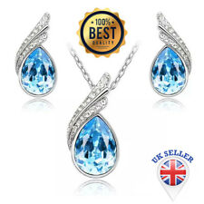 Austria Crystal Necklace Earring Jewelry Set with Rhinestone Necklace&Earrings.