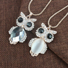 Crystal Pendant Necklace Animal Women Long Sweater Chain Owl Rhinestone Jewelry
