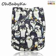 Baby Diapers Digital Print Pocket Cloth Care Unisex Reusable Nappies One Size Fi