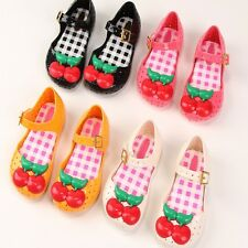 Children Kids Girl Mini Melissa Shoes Cherry Jelly Princess Shoes Sandals Summer