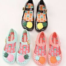 Mini Melissa Cute Pineapple Jelly Shoes Jelly Sandals Girls Princess Size 6-11