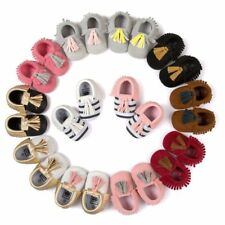 Baby Shoes Toddler Infant Unisex Boys Girls Soft Tassel Moccasins First Walkers