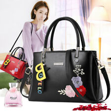 Women Embroidered Leather Handbag Tote Purse ShoulderBag Lady Hobo Crossbody Bag