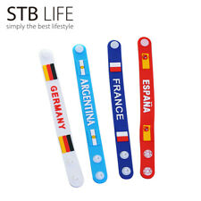 New Russia World Cup Football Flags Silicone Bracelet Wristband Soccer Gift