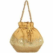 Indian Women Bridal Wedding Ethnic Purse Bead Evening Party Bag Clutch Potli Bag