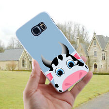 Cow Printed Back Cover Case for Samsung Galaxy S6 S7 S8 Edge Plus A5 J7 Natural