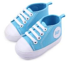 Baby Boys Girls Canvas Sneakers Soft Sole Crib Kids Shoes Newborn Infant Toddler