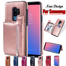 For Samsung Galaxy S8 S9 Plus S7 Edge Leather Case Luxury Card Slot Wallet Cover